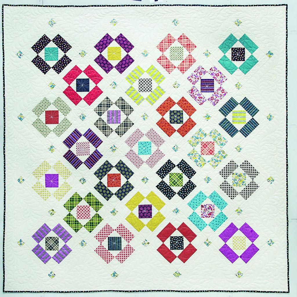 Modern indian summer quilt pattern quiltcut2 fabric for Modern house quilt pattern